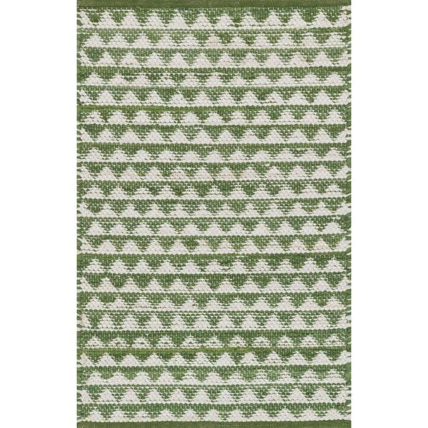 Shop Hand-woven Dakota Green Cotton Rug