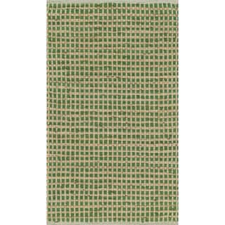 Hand-woven Renato Green Cotton and Jute Rug (1'8 x 5'0)|https://ak1.ostkcdn.com/images/products/10643053/P17710555.jpg?impolicy=medium