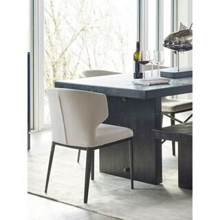 Aurelle Home Lizzie Modern Beige Dining Chair (Set of 2)