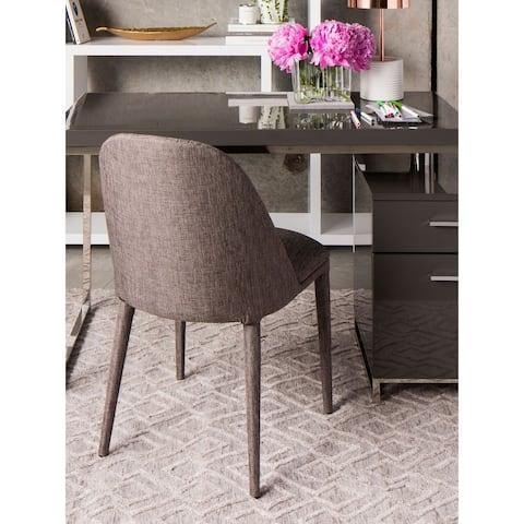 Aurelle Home Italian Classic Grey Dining Chair