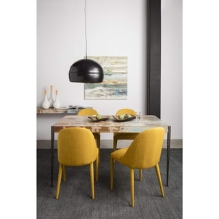 Aurelle Home Mid-century Yellow Dining Chair