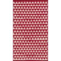 Hand-woven Dakota Red Cotton Rug - 2'6 x 4'