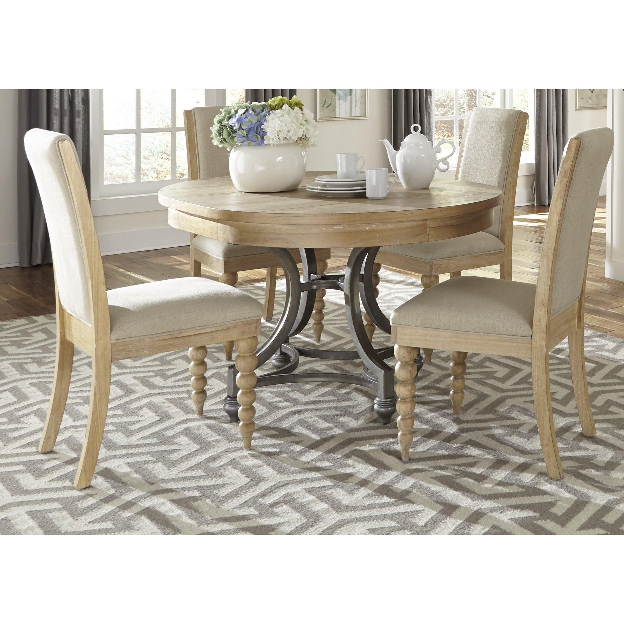 Harbor View Sand Round Dinette Table