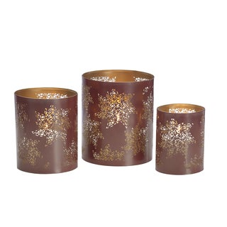 Elements Poinsettia Luminaries, Set of 3