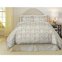 Pointehaven Cedar 200 Thread Count Printed Percale Duvet Set