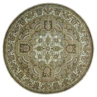 Handmade Rajasthan Brown Oriental Rug (11'10 x 11'10)