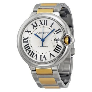 Cartier Men's W69009Z3 'Ballon Bleu' 18 Kt Yellow Gold Automatic Two-Tone Stainless Steel Watch