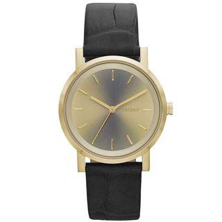 DKNY Women's NY2244 'Soho' Holographic Dial Grey Leather Watch