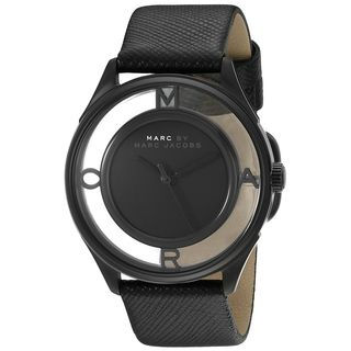 Marc Jacobs Women's MBM1379 'Thether' Black Leather Watch