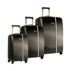 Nine West Noelle Black 3-Piece Hardside Spinner Luggage Set