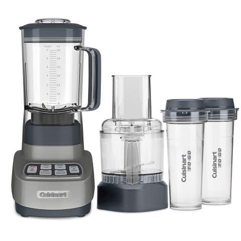 Cuisinart BFP-650GM Velocity Ultra Trio 1 HP Blender/Food Processor with Travel Cups, Gun Metal