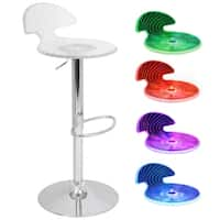 Spyra Contemporary Light-UP LED Bar Stool