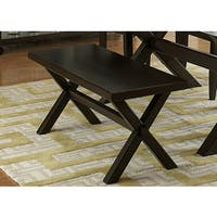 The Gray Barn Outerlands Charcoal Trestle Base Dining Bench
