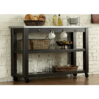 Keaton Charcoal and Zinc Top Server