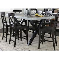The Gray Barn Outerlands Charcoal and Zinc Top Testle Gathering Table