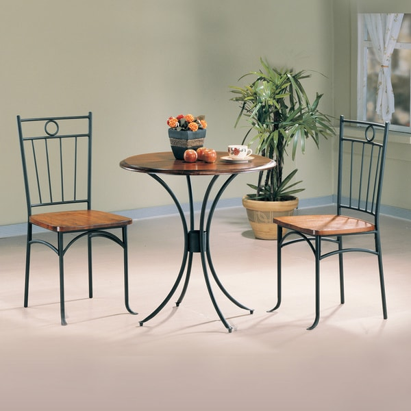 Coaster Company Black/ Honey 3-piece Bistro Set