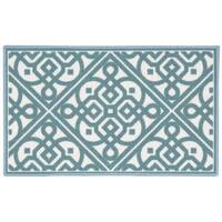 Waverly Fancy Free and Easy Lace It Up Teal Area Rug by Nourison (1'8 x 2'10)