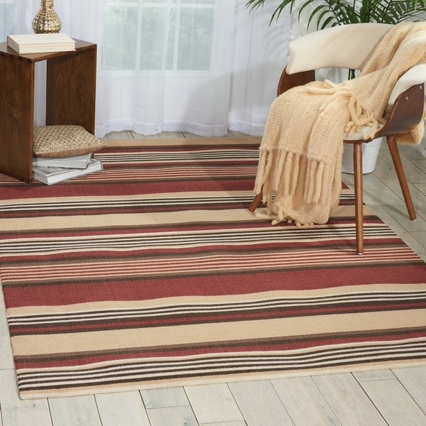 Waverly Sun N' Shade Harvest Indoor/ Outdoor Rug by Nourison - Multi - 6'6 x 9'6