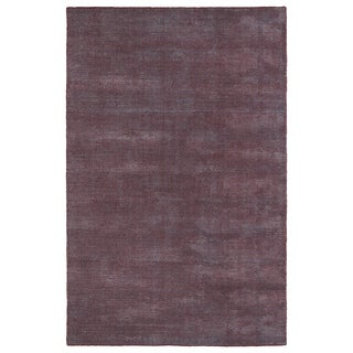 """Solid Chic Red and Dark Grey Hand-Tufted Rug (5' x 7'9"""")"""