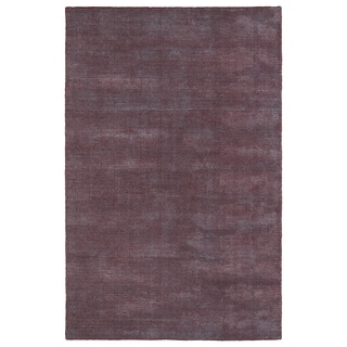 Solid Chic Red and Dark Grey Hand-Tufted Rug (3' x 5')