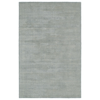 Solid Chic Slate and Beige Hand-Tufted Rug - 9' x 12'