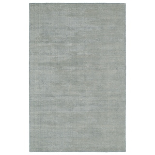 Solid Chic Slate and Beige Hand-Tufted Rug (8'0 x 10'0)