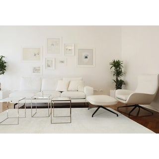"""Solid Chic Cream Hand-Tufted Rug (5' x 7'9"""")"""