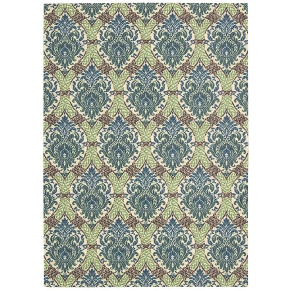 Waverly Treasures Dress Up Damask Blue Jay Area Rug by Nourison - 4'10 x 6'6