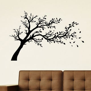 Tree On The Wind Vinyl Wall Art Decal Sticker