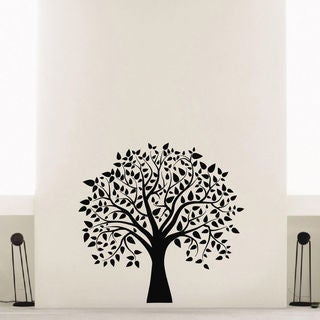 Tree and Leaves Vinyl Wall Art Decal Sticker