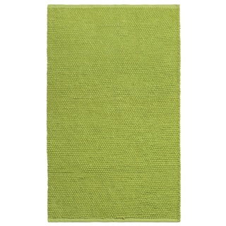 Plush Nubby Green 30 x 50 inch Bath Rug