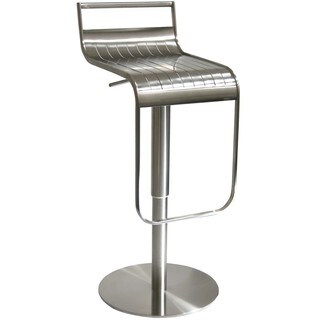 AmeriHome Stainless Steel Bar Stool With Back Rest