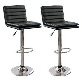 AmeriHome Modern Ripple Back Bar Stool (2-piece Set)