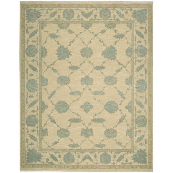Nourison Silk Pointe Light Gold Rug - 5'10 x 8'10