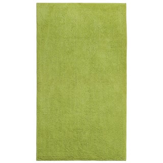 Plush Pile Green Cotton Bath Rug
