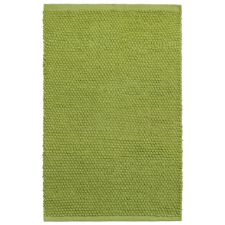 Plush Nubby Green 21 x 34 inch Bath Rug