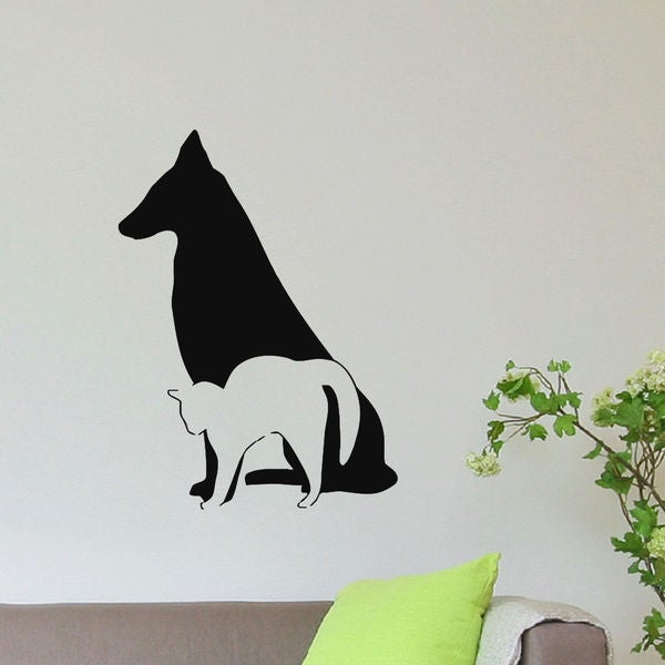 Grooming Salon Decor Dog And Cat Vinyl Wall Art Decal Sticker