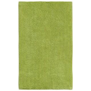 Plush Pile Green 21 x 34 inch Bath Rug