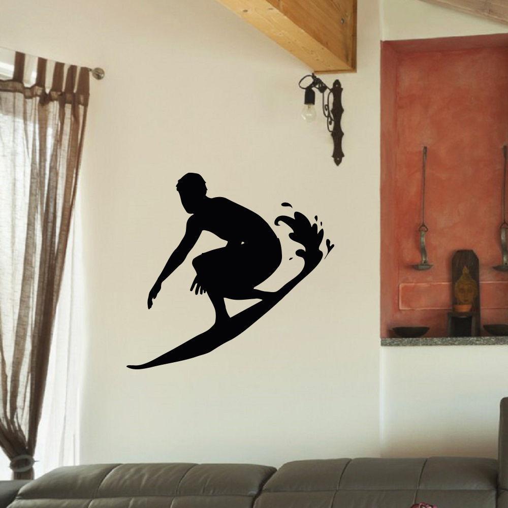 Surfer Surfing Vinyl Wall Art Decal Sticker (26 inches x ...