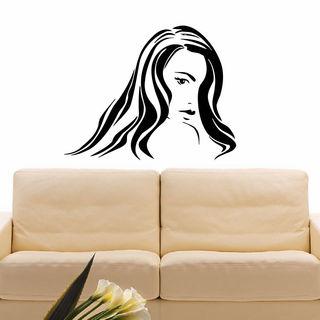 Woman Face Vinyl Wall Art Decal Sticker