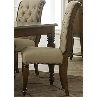Cotswold Old World Cherry Upholstered Side Chair