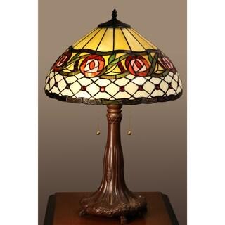 Alexis 2-light Rosebud Tiffany-style 16-inch Table Lamp