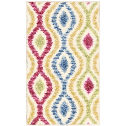 """Waverly Aura of Flora Optical Delights Lipstick Area Rug by Nourison - 2'3"""" x 3'9"""""""