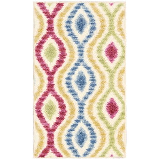 Waverly Aura of Flora Optical Delights Lipstick Area Rug by Nourison - multi