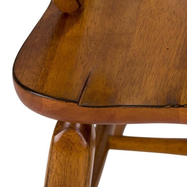 Treasures Rustic Oak Bow Back Arm Chair