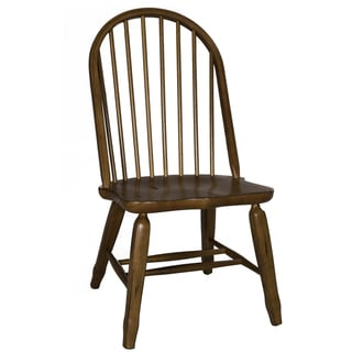 Treasures Rustic Oak Bow Back Dining Chair (Set of 2)