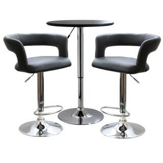 Link to AmeriHome Modern Curvy Bistro Set (3-piece Set) - N/A Similar Items in Dining Room & Bar Furniture