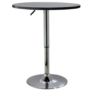 AmeriHome Classic Round Wood Top Bistro Table