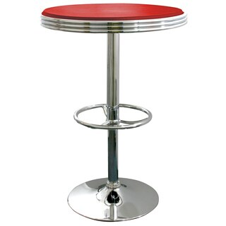 AmeriHome Red Retro Soda Shop Table