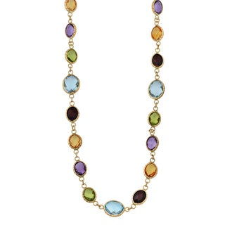 Fremada 14k Yellow Gold and Oval Multi Gemstones Choker Necklace (17 inches)|https://ak1.ostkcdn.com/images/products/10644784/P17712078.jpg?_ostk_perf_=percv&impolicy=medium
